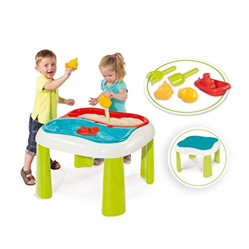 Smoby 840107 - Sand und Wasser Spieltisch - herausnehmbaren Wannen, inklusive Abdeckung, viel Zubehör,...
