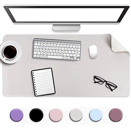 Multifunktionales Office Mauspad, YSAGi 80 x40 cm Wasserdichte Schreibtischunterlage aus PU-Leder,...