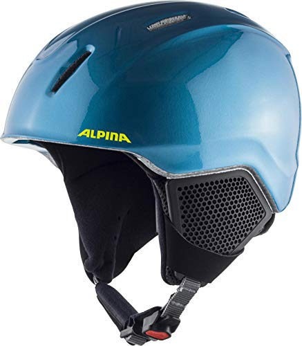 ALPINA Unisex - Kinder, CARAT LX Skihelm, blue-neon-yellow, 51-55 cm