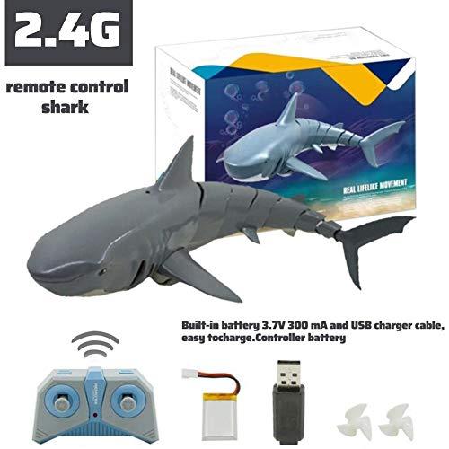 Morningtime RC Boot Fernbedienung Hai Spielzeug 2.4G ferngesteuertes elektrisches Rennboot Simulation...
