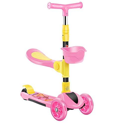 LITIAN Scooter Kinder DREI-in-one Can sitzen auf einem Roller männliche und weibliche Baby-Scooter...