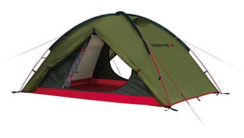 High Peak Kuppelzelt Woodpecker 3, Campingzelt, Trekkingzelt für 3 Personen, 2 Eingänge, Stauraum,...