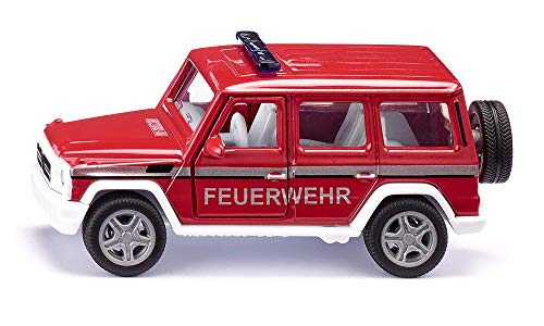 SIKU 2306, Mercedes-AMG G65 Feuerwehr-Geländewagen, 1:50, Metall/Kunststoff, Rot, Inkl....