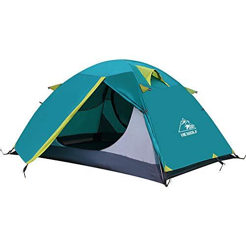 HEWOLF Zelt 2 Personen Rucksack-Zelt kuppelzelt wasserdichte Doppellagige und Leichte Zelt für Camping,...