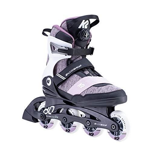 K2 Damen ALEXIS 80 BOA Inline Skates Mit K2 Softboot, White - Purple, EU: 38 (UK: 5 / US: 7.5)