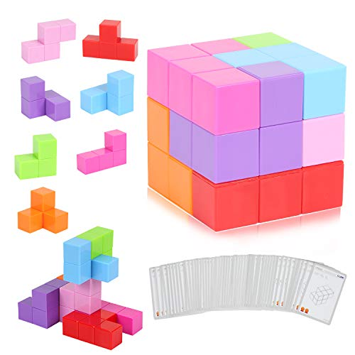 CMASTER Magnetische Würfel für Kinder mit 54 Smarte Teile Puzzles 3D Gehirn Training Intelligenz...