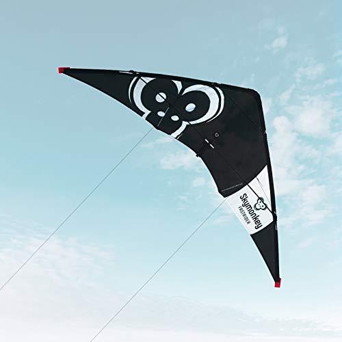 Skymonkey Fastrider Lenkdrachen, Anfänger 2 leiner Leichtwinddrache, 127cm
