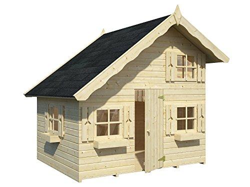 Palmako, M290889, Modell: Tom, Gartenhaus, Kinderspielhaus, aus nordischem Fichtenholz, ohne Farbanstrich