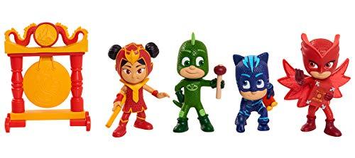 Simba 109402419 - PJ Masks Figuren Set / Pyjamahelden / 4 Action Figuren und Drachen Gong / Staffel 3 /...
