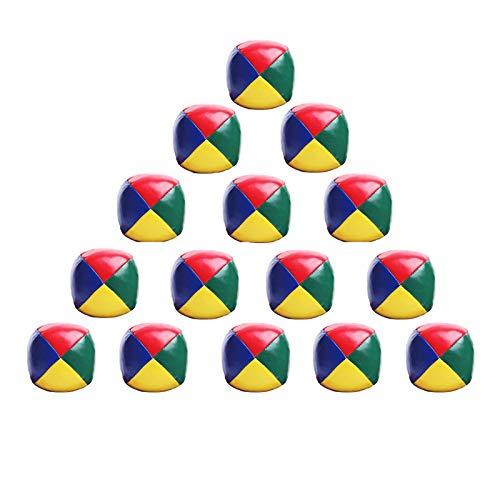 Coriver 15Pcs Soft Jonglierbälle Set, Kinder Ballwurfball Spiele Zirkus Clown Farbige Jonglierbälle...