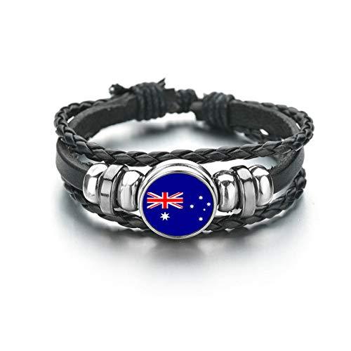 Nationalflagge Armbänder Männer Frauen Australien Brasilien Dänemark Deutschland Russland Norwegen...