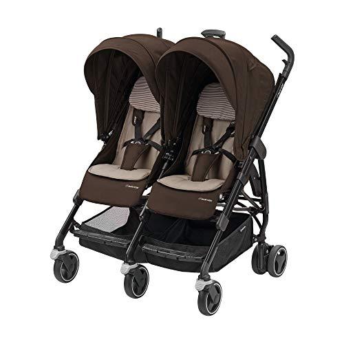 Maxi-Cosi Zwillingskinderwagen Dana for Two, kompakt faltbarer Geschwisterwagen, nutzbar ab der Geburt...