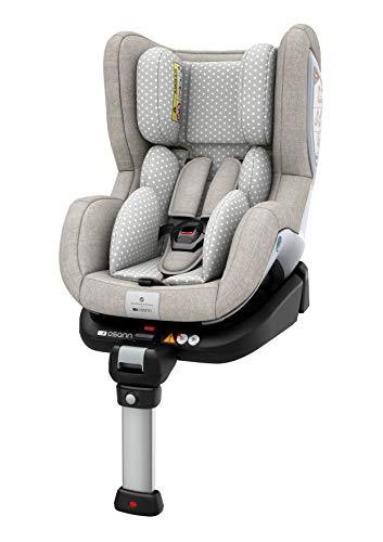 Osann Reboard Kindersitz Fox Isofix - Gruppe 0+/1, 0-18 kg, 0 bis circa 4 Jahre ECE R44/04, Silvercloud
