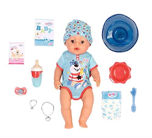 Zapf Creation 827963 BABY born Magic Boy 43 cm - neu mit magischem Schnuller und 10 lebensechten...