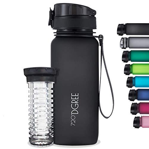 """720°DGREE Trinkflasche """"uberBottle"""" softTouch +Früchtebehälter - 1L - BPA-Frei - Wasserflasche..."""