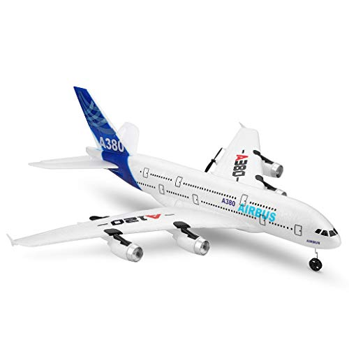 Jamicy® Ferngesteuerte Flugzeuge,RC Segelflugzeug, WLTOYS A120-A380 Airbus 510mm Spannweite 2,4 GHz 3CH...