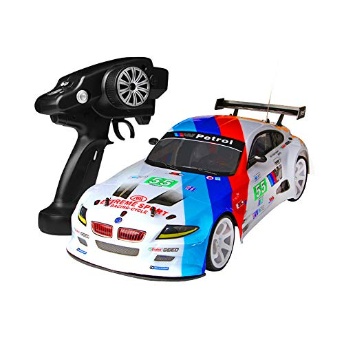 HSKB Ferngesteuertes Auto RC Car 2,4 G 4WD 1:10 70km / h Buggy Stunt High Power LED Racing Truck...