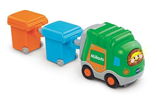 VTech Baby 80-187764 - TUT Flitzer - Müllauto und 2 Mülltonnen, grün