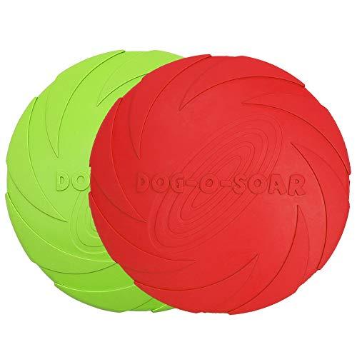 Vivifying Hundefrisbee, 2 Stück 18cm Hunde-Frisbee aus Natürlichem Kautschuk für Land und Wasser...