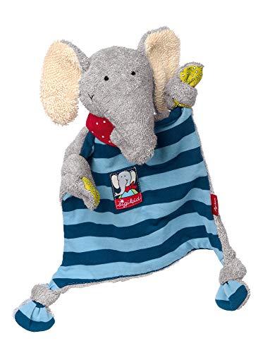 sigikid, Mädchen und Jungen, Schnuffeltuch, Elefant Lolo Lombardo, Blau/Grau, 48935