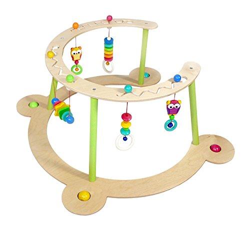 Hess Holzspielzeug 13377 - Babyspiel und Lauflerner Eule aus Holz