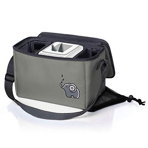 Musikbox-Tasche für Hörwürfel (z.B. Toniebox und Tigerbox Touch) in elefantengrau | Verstellbare...
