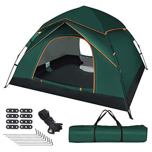 UOUNE Camping Zelt 2-3 Personen Kuppelzelt Wasserdicht Zelt Ultraleichte UV Schutz Wurfzelt für...