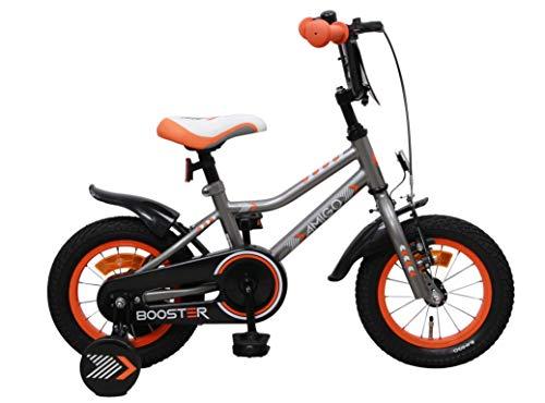 Amigo Booster - Kinderfahrrad für Jungen - 12 Zoll - mit Handbremse, Rücktritt, Lenkerschutz und...
