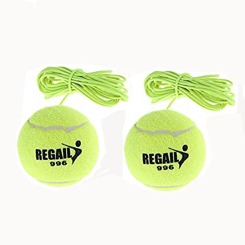 PhoenixDN 2 Stück Tennistrainer, Tennisball Trainer Singles, mit Einem Seil und 2 Trainingsball,...