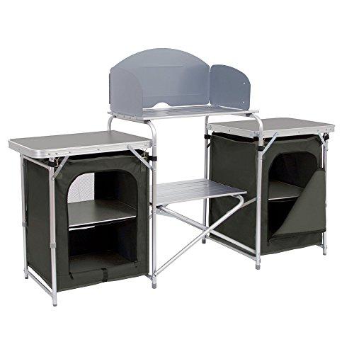 CampFeuer Campingschrank, Aluminium Campingküche, (B) 171 x (H) 111 x (T) 48 cm, Faltschrank mit...