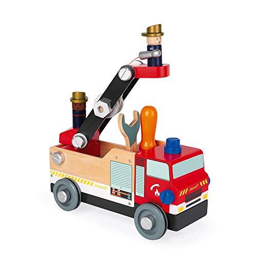 Brico'kids hölzernes Feuerwehrauto - Konstruktionsspielzeug - Feinmotorik und Vorstellungskraft -...
