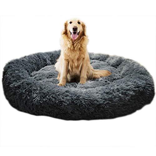 KongEU Deluxe weich Hundebett Sofa waschbar Rundes Plüsch Hundekissen Katzenbett in Doughnut-Form für...