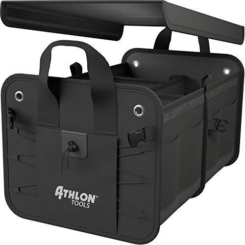 ATHLON TOOLS Premium Kofferraumtasche mit Deckel - 60 Liter XXL Kofferraum-Organizer - Extra stabile &...