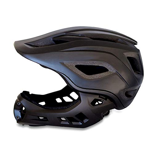 Crazy Safety MT fahrradhelm fullface: CE-zertifizierter BMX- & Mountainbike Fahrradhelm für Jungen,...