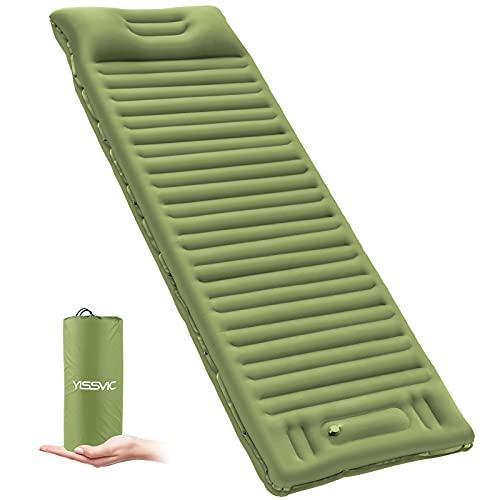 YISSVIC Isomatte Camping Selbstaufblasbare Luftmatratze mit eingebauter Pumpe Verdickte Schlafmatte...