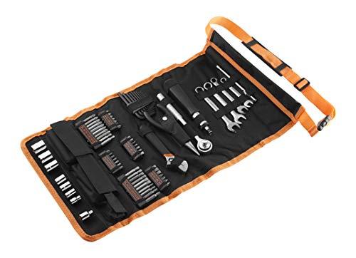 Black+Decker 76-teilig Handliche Roll-Tasche (mit Autowerkzeug-Zubehör) A7063