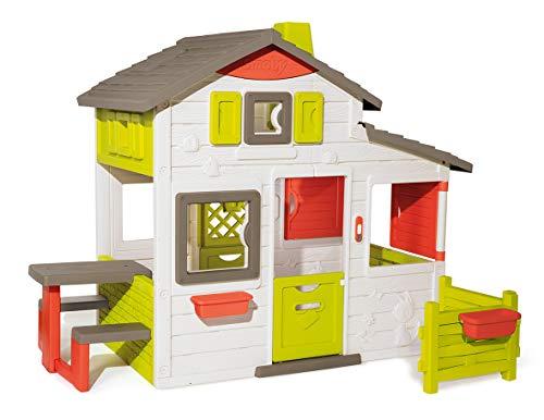 Smoby 7600810203 - Neo Friends Haus - Spielhaus für Kinder für drinnen und draußen, erweiterbar durch...