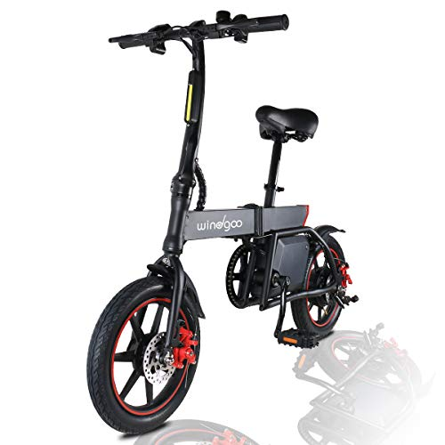 Windgoo Elektroroller, 14' Elektrofahrrad, Elektro Scooter mit 6.0 Ah Batterie, Höchstgeschwindigkeit...