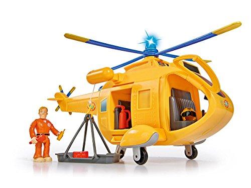 Simba – Feuerwehrmann Sam Hubschrauber Wallaby II, mit Tom Thomas Figur, mit Licht und Originalsound,...