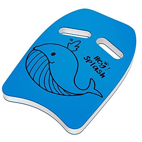 HeySplash Schwimmbrett, Kinder Schwimmhilfe PE Schaumstoff Schwimmen Kickboard mit Griffen und Cartoon...