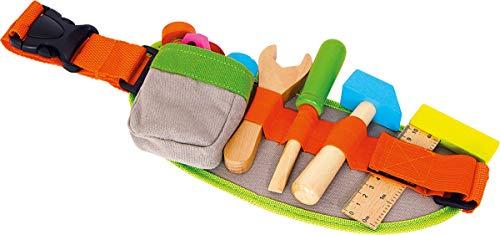Small Foot by Legler: Kinder-Werkzeuggürtel mit buntem Spielwerkzeug