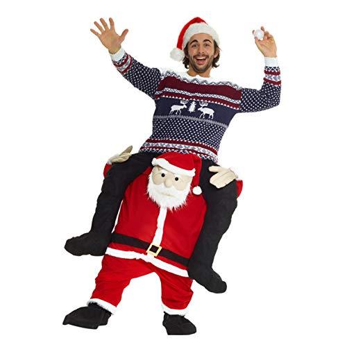 Morph MCPBSA Weihnachtsmann Huckepack Kostüm für Erwachsene, lustiges Weihnachtskostüm Herren Damen,...