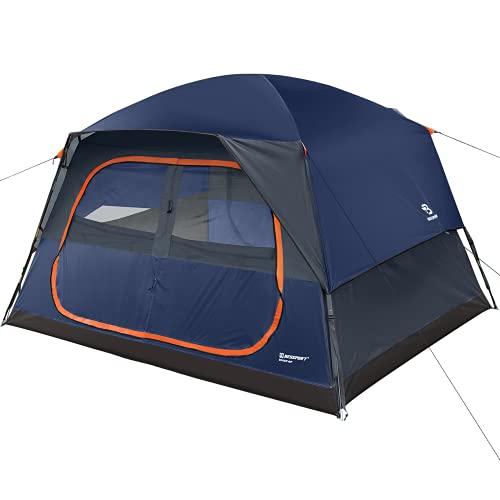 Bessport Camping Zelt 4/6 Personen Familie Kuppelzelt Wasserabweisend Dome Zelt 4 Saison für Outdoor...