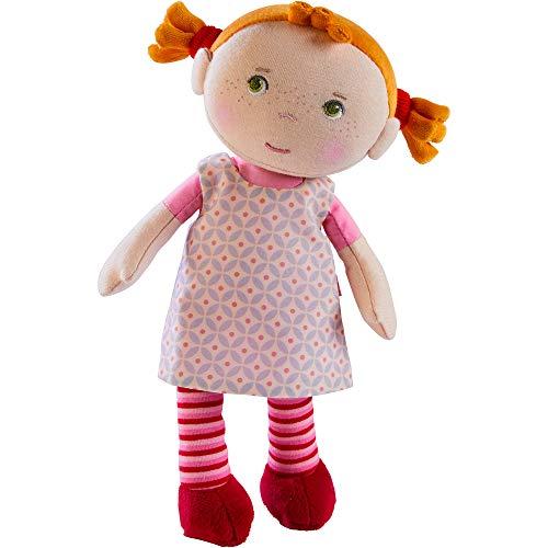 Haba 303730 - Kuschelpuppe Roya, Weiche Stoffpuppe, für Babys ab 1, 5 Jahren, mit Strampelanzug aus...