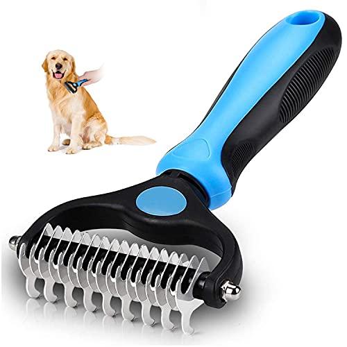 Unterfellbürste Hund Hundebürste Katzenbürste für langhaar,Unterwollkamm entfernt Unterwolle kamm &...