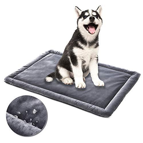 ALLISANDRO Hundematte rutschfeste wasserdichte Hundedecke 80x60cm, 100x70cm, 120x70cm Hundekissen In und...