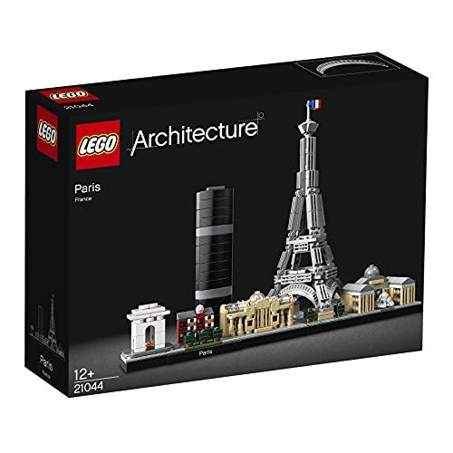 Lego 21044 Architecture Paris Skyline-Kollektion, Baumodell mit Eiffelturm und Louvre, Geschenkidee für...