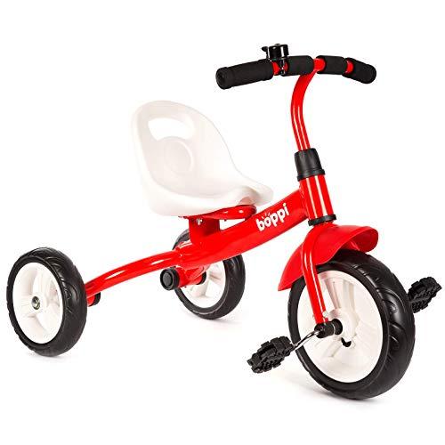 boppi Kinder-Dreirad / Dreirad mit Sitz und Pedalen für Kleinkinder - Rot