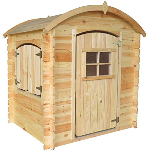 TIMBELA M505-1 Holzhaus mit Holzboden - Kindergartenhaus für den Außenbereich, H145 x 105 x 130 cm, 1.1...
