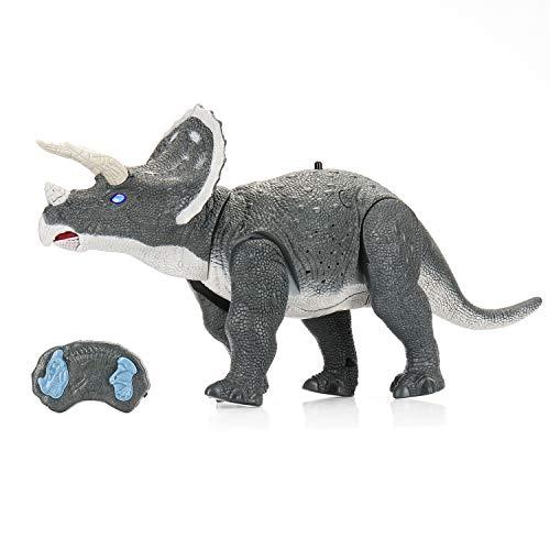 SainSmart Jr. Ferngesteuerte Dinosaurier Drache Spielzeug mit Febedienung, 2 in 1 Electronische Dino mit...